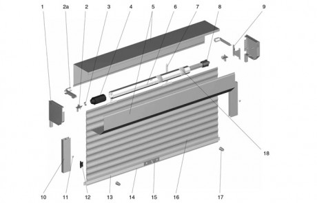Рольставни с пружинно-инерционным механизмом