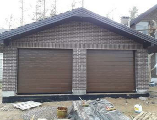 Установка двух гаражных ворот Хёрманн