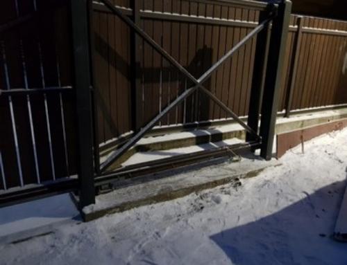 Установка откатных ворот в Васкелово