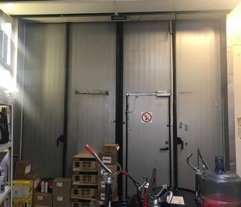 Установка складчатых ворот Loading Systems