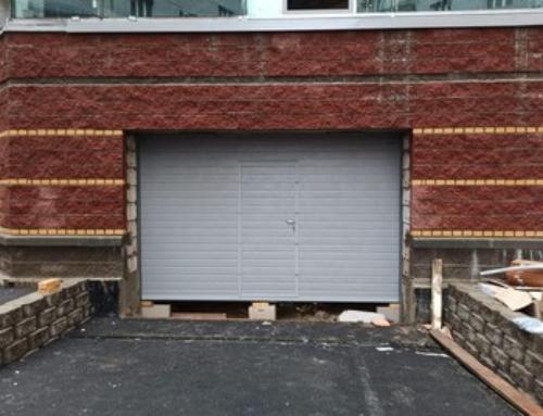 Установка ворот в паркинге на пр. Энгельса