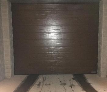 Установка ворот в паркинг ЖК Блохина 13